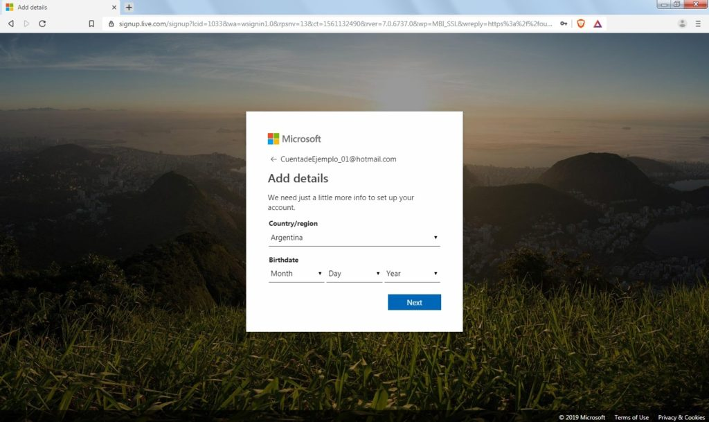 How to create a new account in Hotmail?