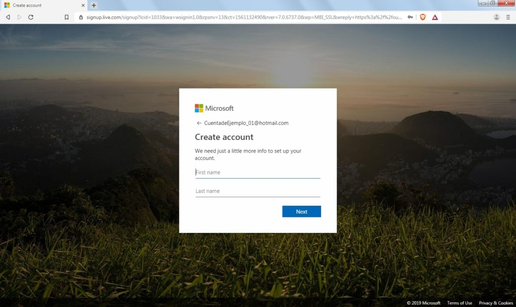 How to create an account in Hotmail?