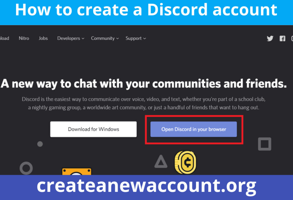How to create a Discord account